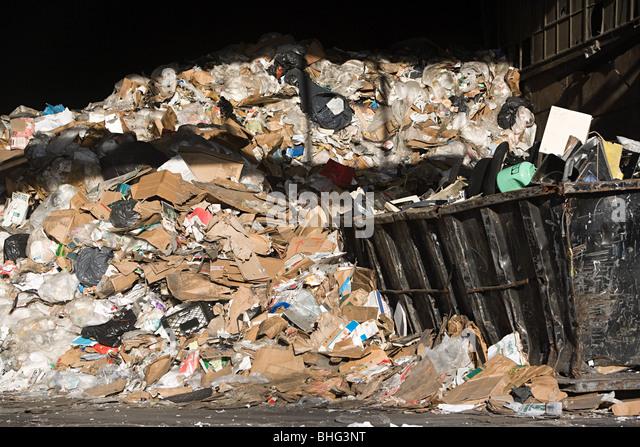 Garbage pile - Stock Image