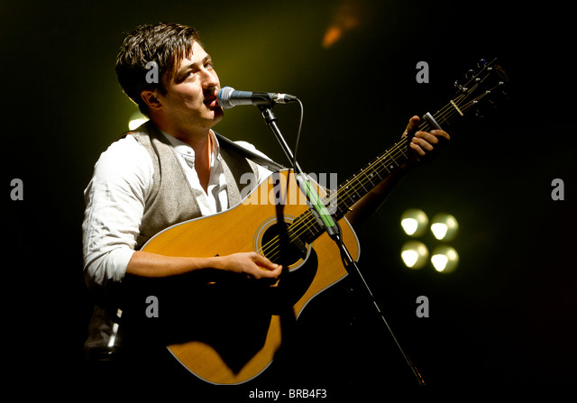 Marcus Mumford from Mumford & Sons - Stock Image