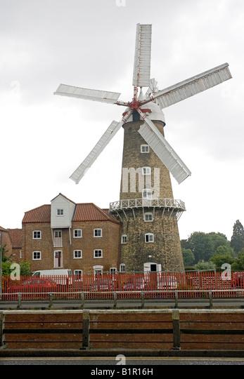 Maud Foster windmill Boston Lincolnshire UK - Stock Image