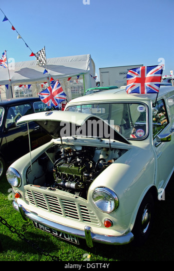 Austin Mini at Classic car Rally - Stock Image