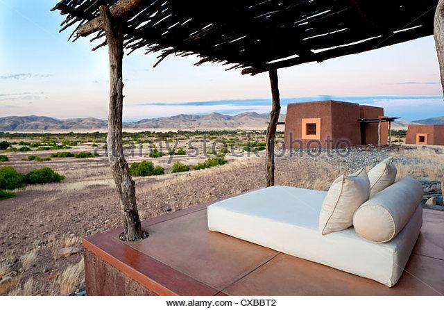 Okahirongo Lodge, Purros Conservancy Wilderness, Kaokoland region, NW Namibia, Africa - Stock Image
