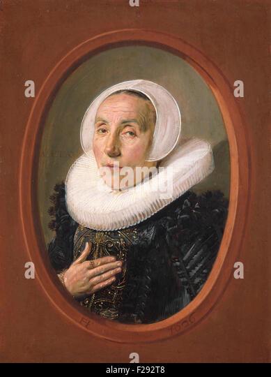 Frans Hals - Anna van der Aar - Stock Image