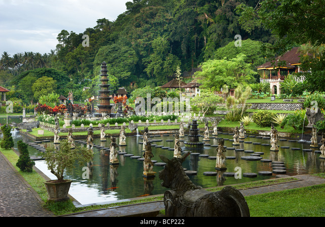 the water gardens at Tirtagangga, Bali, Indonesia - Stock Image
