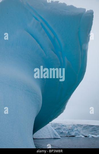 Icebergs in Antarctica in the summer - Stock Image