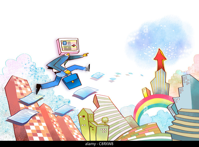 Illustration of global communication - Stock Image