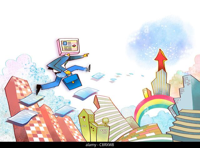 Illustration of global communication - Stock-Bilder