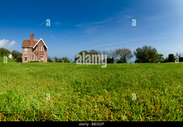 Country House And Garden In Spring - Stock Image