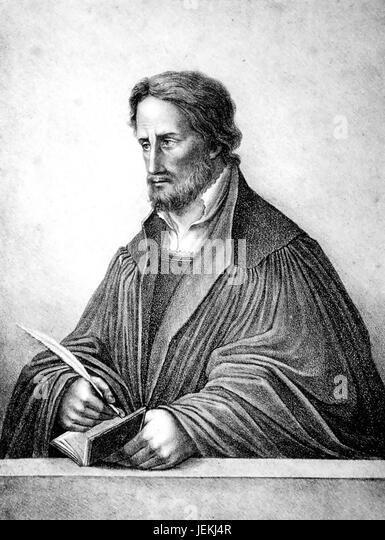 PHILIP MELANCHTHON ( 1497-1560) German Lutheran theologian - Stock-Bilder