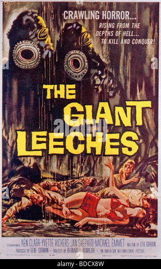 THE GIANT LEECHES  Poster for  1959 film - Stock Image