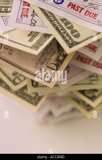 Past due invoices, Marysville, Washington State USA - Stock Image