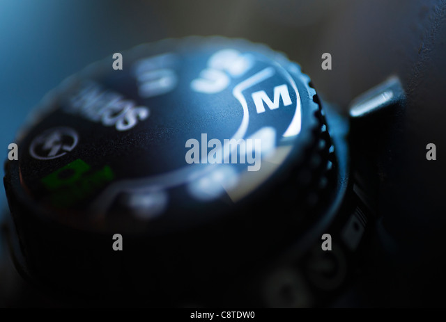 Close-up of settings button - Stock Image