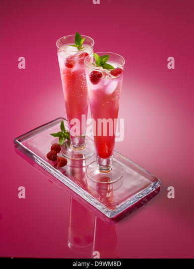 Pink drinks - Stock Image