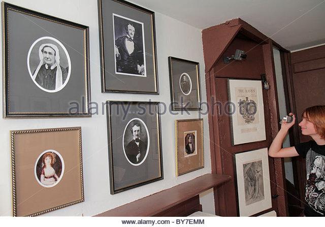Maryland Baltimore North Amity Street Edgar Allan Poe House & and Museum American poet literature history memorabilia - Stock Image