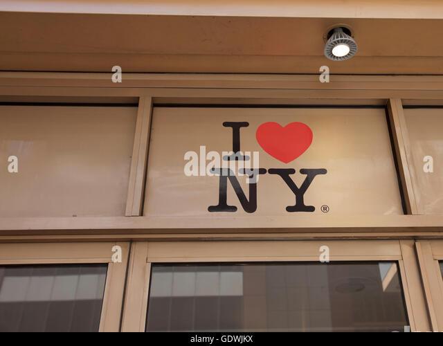 I Love NY, Store in Manhattan, New York City, USA - Stock Image