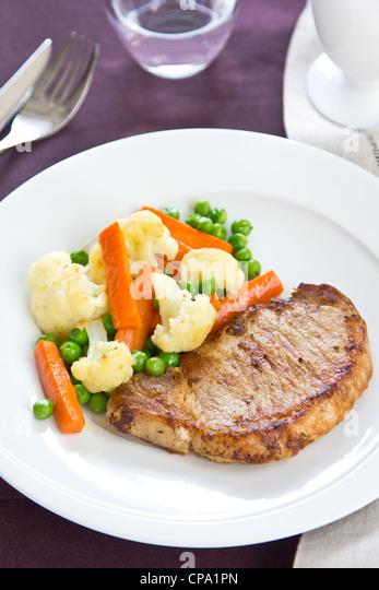 Grilled pork [ Pork steak ] - Stock Image