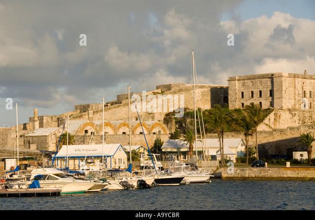 Bermuda Dockyard  marina old fort - Stock Image