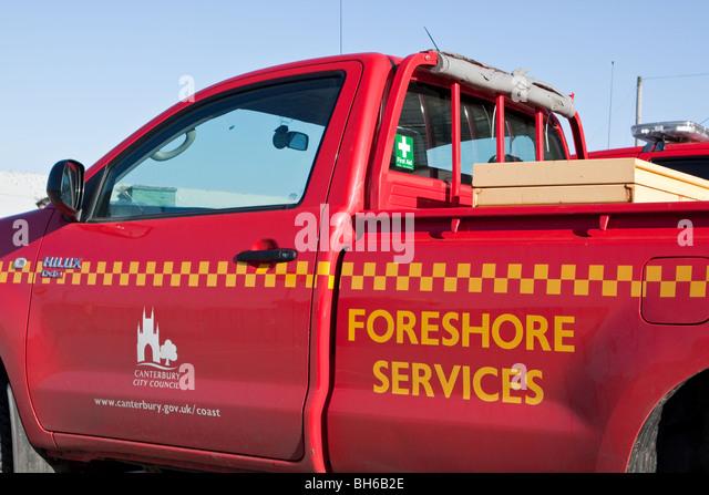 Foreshore Services Van Canterbury - Stock Image