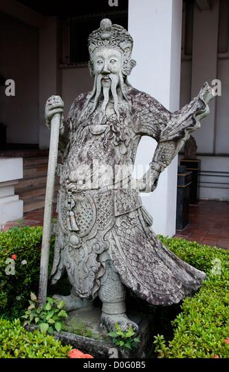 Foreign Merchant 18 Century  National Museum Bangkok Thailand - Stock Image