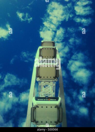 Abstract view of Ferris wheel, Brighton beach - Stock-Bilder