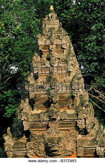 Stone carvings bali indonesia stock photos