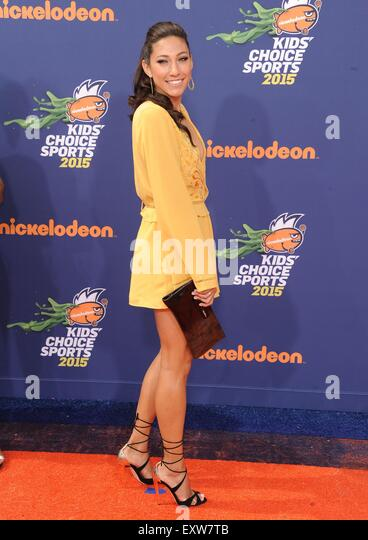 Los Angeles, California, USA. 16th July, 2015. Christen Press at arrivals for Nickelodeon Kids' Choice Sports - Stock-Bilder