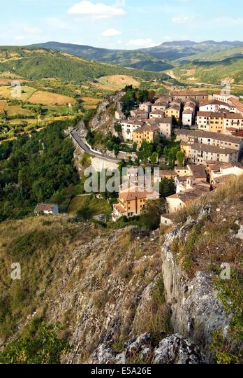 Pennabilli is a comune (municipality) in the Province of Rimini in the Italian region Emilia-Romagna. - Stock-Bilder