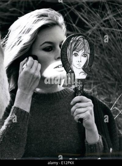 Feb. 24, 2012 - Mirror, mirror..... there's no doubt about that one BB is the prettiest of them all. Bardot - Stock Image