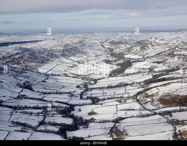 North Yorks Moors, Snow covered,  North Yorkshire, Northern England - Stock Image