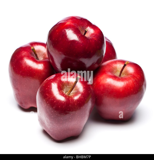 Group of red apples - Stock Image