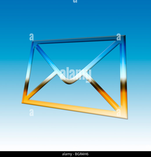 Mail. Graphical Image of an Envelope - Stock Image