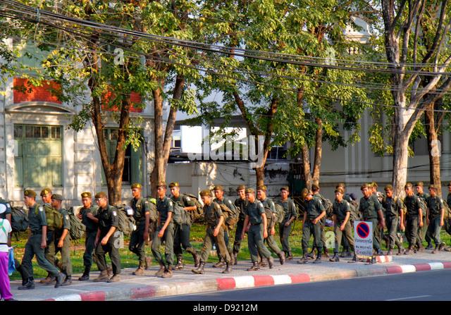 Thailand Bangkok Phra Nakhon Tay Wang Junction Territorial Defence Defense Command military King Rama 6 Museum building - Stock Image