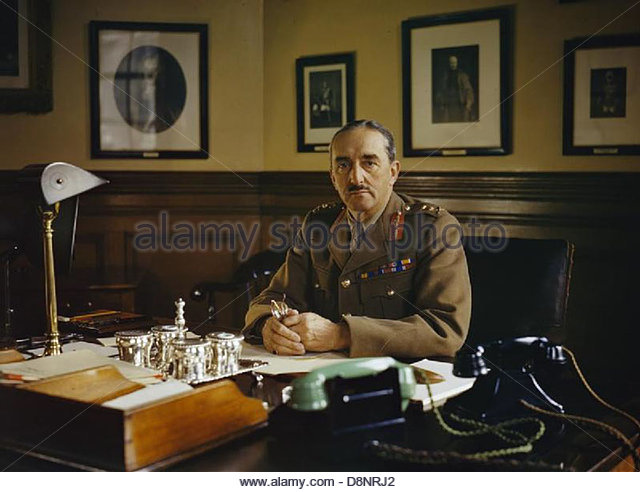 General Sir Alan Brooke, Chief of General Staff, 1942 TR153. - Stock Image