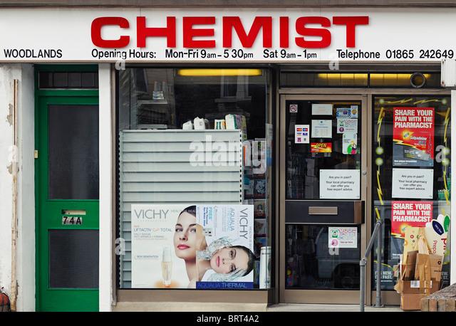 Chemist Shop, Oxford, UK. - Stock Image