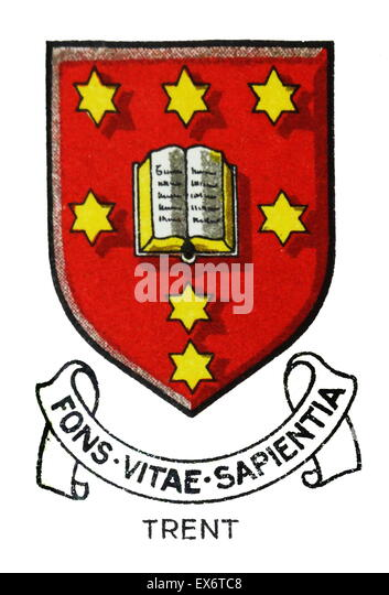 Emblem for Trent College, Long Eaton, Nottingham, is a co-educational independent day and boarding school. In 1865 - Stock Image