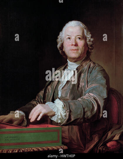 CHRISTOPH GLUCK (1714-1787)  German operatic composer painted by Joseph Duplessis in 1775 - Stock-Bilder