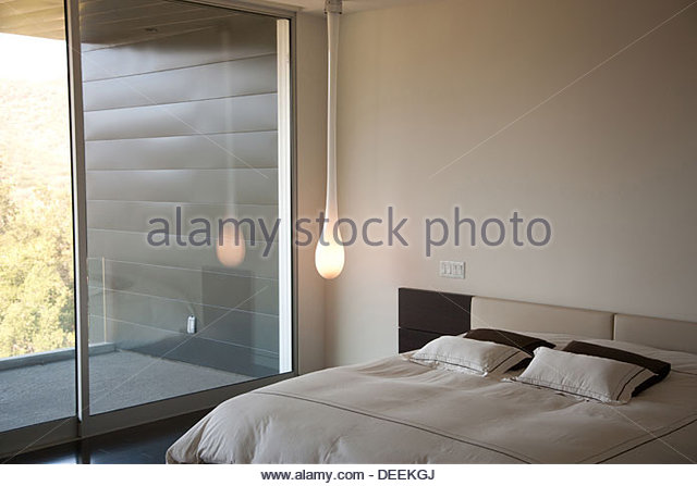 Interior of modern bedroom - Stock Image