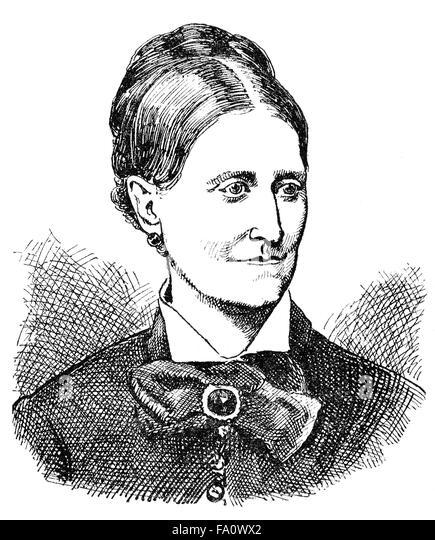 Leopoldine Emilie Ernestine Tegtmeyer, 1827-1903, a German writer - Stock-Bilder