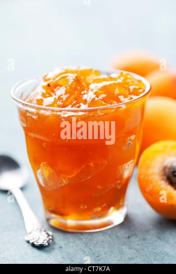 apricot jam - Stock Image