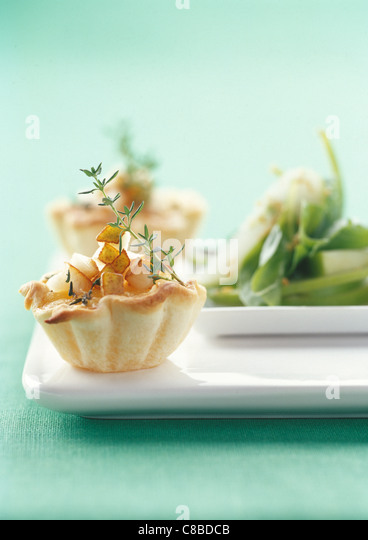 turnip and potato tartlet - Stock Image