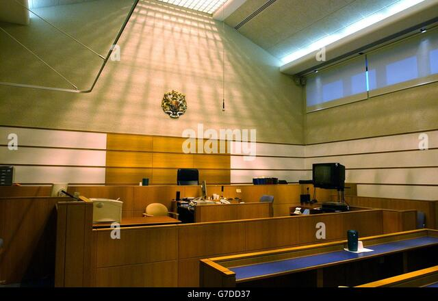 Interior of Belmarsh Magistrates Court - Stock Image