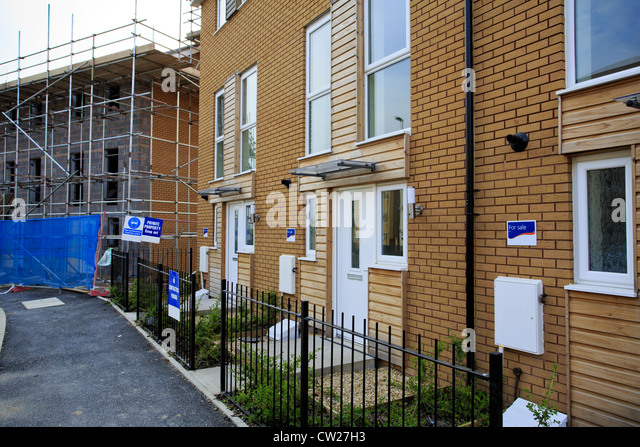 Housing estate uk construction stock photos housing for Affordable home construction