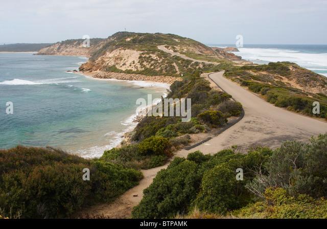 Australia, Victoria, Mornington Peninsula, Point Nepean, View of road - Stock Image
