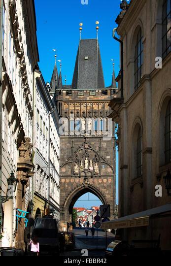 Czech Republic Prague The Old Town bridge Tower - Stock Image