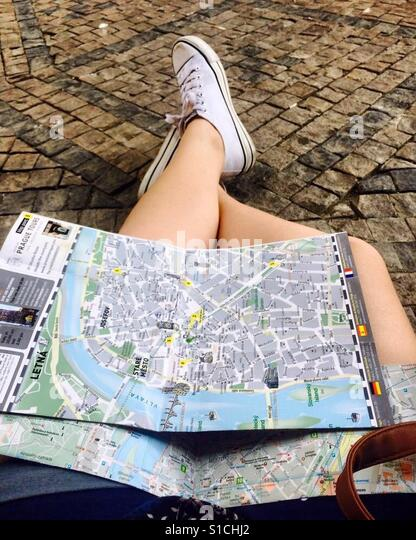 Lost in unknown cities - Stock-Bilder