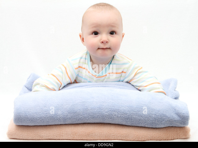 baby care after bath - Stock Image