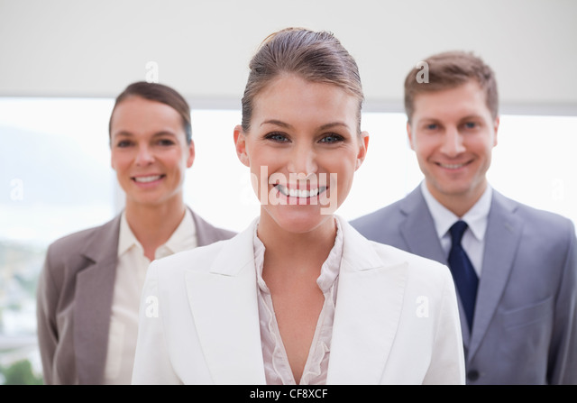 Marketing manager standing - Stock Image