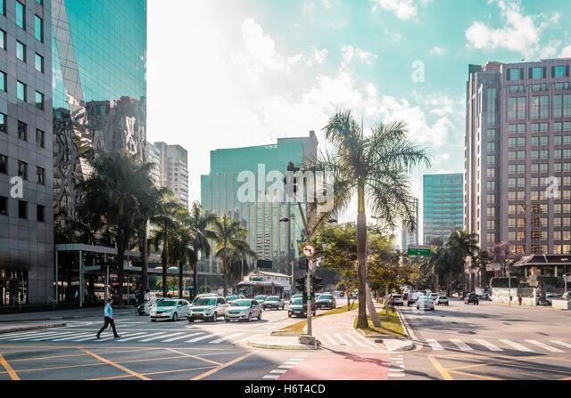 Photo of Buildings and Streets of Sao Paulo, Brazil (Brasil) - Stock Image