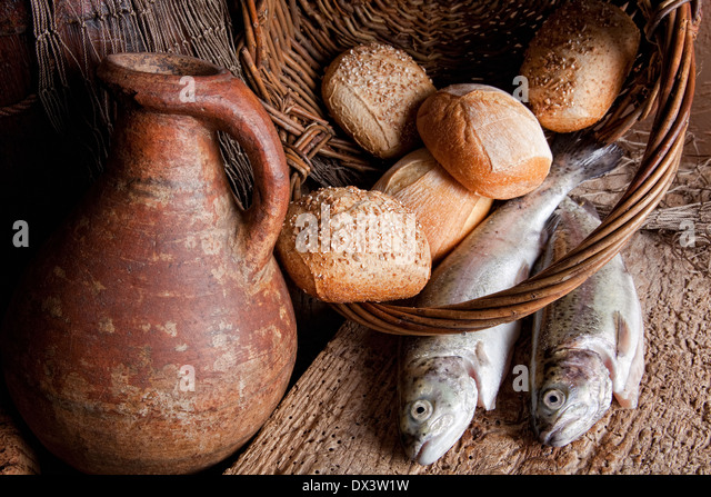 Five loaves stock photos five loaves stock images alamy for Fishing with bread