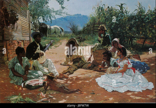 Frank Buchser The Song of Mary Blane 1870 - Stock Image