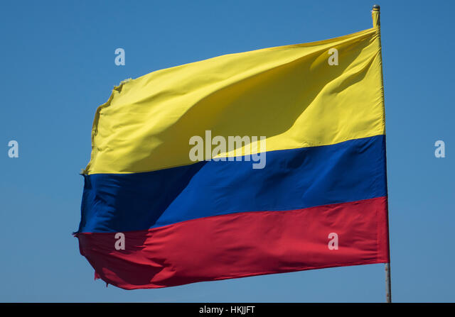 Colombia flag - Stock Image